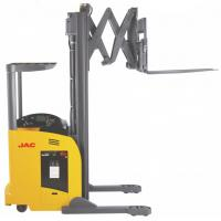 Quality 1.8 Ton Reach Truck Forklift Forward Double Scissor 36V Electric Control High Efficiency for sale