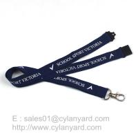 Best Blue Breakaway Clip Lanyards, Printed Polyester Lanyard with Breakaway Buckle wholesale