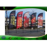 China PVC Outdoor Flag Banners , Custom Printing Outdoor Teardrop Banner on sale