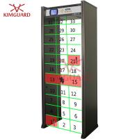 """Quality 33zone metal detector gate with directional counter , 5.7"""" LCD screen for airport security check for sale"""