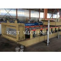 China Professional Metal Building Hydraulic Floor Deck Sheet Roll Forming Machine 6kw 50-60HZ on sale