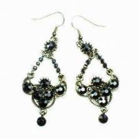 Best Fashion earring ,Dangle Drop Earrings with Rhinestone Main Stone for Gift wholesale