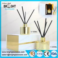 Best high quality glass gold reed diffuser bottle with gift box wholesale