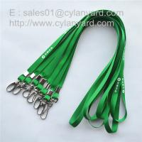 Best Custom polyester neck strap lanyard with metal sheet crimp and metal clip, wholesale