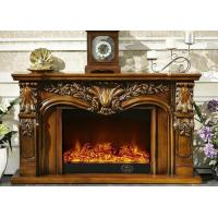 China Resin White Painted Free Standing Electric Fireplaces Antique Fireplace Surrounds on sale