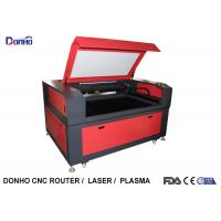 China Red Color CO2 Laser Engraving Machine with Leetro Control System For Acrylic / Wood on sale