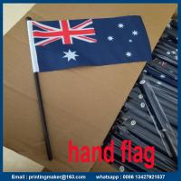Buy cheap Custom Hand Flags with Plastic Pole from wholesalers