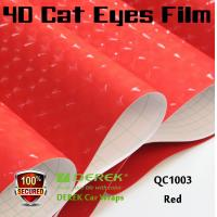 Quality 4D Cat Eyes Car Wrapping Vinyl Films - Red for sale
