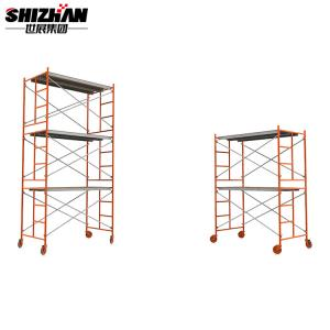 Quality Portable Aluminum Rolling Telescopic  Scaffold Tower Easy Assemble for sale