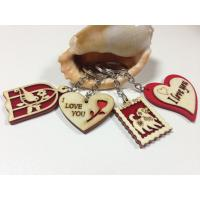 Quality wood craft manufacturer wood gift keychain with laser engraved letters for sale