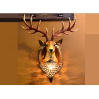 Quality Durable Led Deer Head Wall Lamp Resin Glass Stag Head Wall Light Hand - Painted for sale