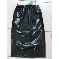 China Customized Black Disposable Garbage Bag with Ribbon / Disposable Trash Bag on sale