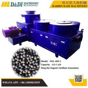 Quality KHL-400-2 organic fertilizer uniform ball pellet making machine for sale