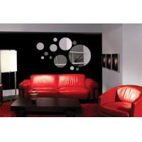 Quality Unbreakable Silver CM-103 Bubble Shaped Acrylic Wall Mirror Sticker for Living Room for sale