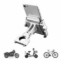 China Motorcycle Phone Mount, Adjustable Anti Shake Metal Bike Phone Holder for iPhone X/8/7/6 Plus Samsung Galaxy S9/S8/S7/S6 on sale