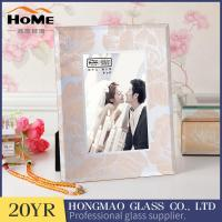Quality Square Shape Contemporary Glitter Glass Photo Frame Wear Resistance for sale