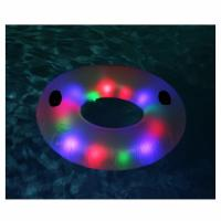 Quality LED Swimming Ring Floating Rafts Inflatable Illuminated Deluxe Tube For Adults for sale