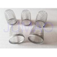 Quality Diamond Holes Stainless Steel Crimped Wire Mesh Filter Caps - 304 L for sale