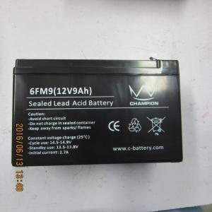 Quality 12v 9ah Long Life Lead Acid Battery Backup Power Supply Shock Proof for sale