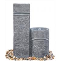 Quality Two Closely Cast Stone Fountains Outdoor Marble Nature Color Garden Water Fountain for sale