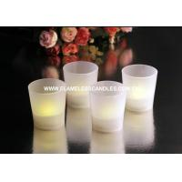 China Flameless LED Frosted Resin Flickering White Votive Candles for Weddings / Birthday on sale
