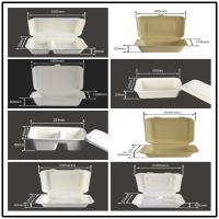 Quality BAGASSE BIO-DEGRADABLE CLAMSHELL, FIRM AND PRETTY, DOUBLE LOCK DESIGN, WITH LID/COVER, LUNCH BOX for sale