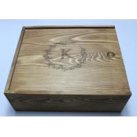 Quality Vintage Pine Wooden Crate Gift Box Brown Color 27cm For Birthday Gift for sale
