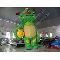 Best Green Large Inflatable Cartoon Characters , Amusement Park Inflatable Monster wholesale