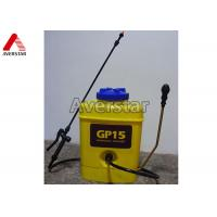 Quality 15L Portable Manual Pesticide Sprayer High Durability With Yellow Plastic Drum for sale