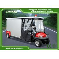 Quality 2 Seater Electric Ambulance Car 3.7KW 48V Trojan Battery With Cargo Box for sale