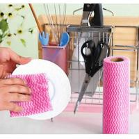 China Spunlaced nonwoven disposable cleaning cloth on sale