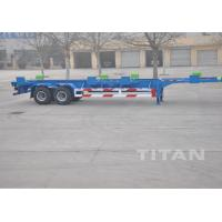 China 2 axle 40 ft terminal chassis trailer Skeletal container Trailer - TITAN VEHICLE on sale