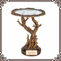 Best Spanish countryside style resin round antique finishing living room side table G061GE wholesale