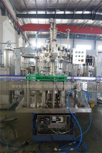 Quality 1000BPH Linear Carbonated Drink Filling Machine , Glass Bottle Filler for sale