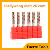 Best HRC 55 4 flutes solid carbide end mill cutting tools for metal working wholesale