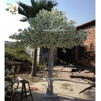 Best UVG CHR135 indoor wedding use white fake chinese cherry tree for home garden decoration wholesale