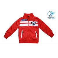 China 100% Cotton And 100 Polyester Toddlers / Kids School Sports Red Jackets For Spring on sale
