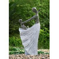 """Best Happy Moment Statue Water Fountains , 47"""" Handcrafted Garden Statue Fountains wholesale"""