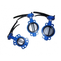 Quality Ductile Iron 4 Inch  Wafer Butterfly Valve With Lever Operator for sale