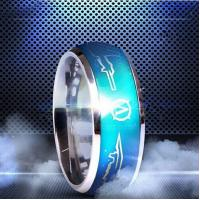 Best Fashion accessories titanium steel color changing personalited love letter ring wholesale
