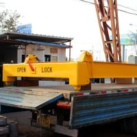 Quality Yellow 20feet 40feet semi-automatic container lifting spreader frame for sale