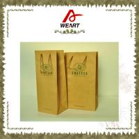 Quality Promotional Kraft Paper Carrier Shopping Bags With Twisted Paper Handle for sale