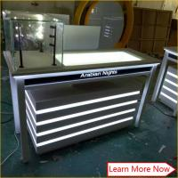 China Customized wood painting jewelry trade show display cases for jewelry on sale