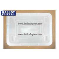 China Multi - function 60 Liter Dust proof File Plastic Storage Box With Wheel on sale