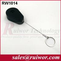 Quality ABS Plastic Anti Theft Retractable Pull Box Recoiler Drop Shaped With Key Ring for sale