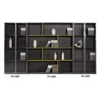 China Melamine Faced Particle Board Office Wood Combination File Cabinet With Glass Door on sale