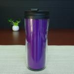 Quality Double Wall 450ml Logo Custom Magic Mug , Heat Sensitive Plastic Mug for sale