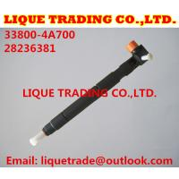 Quality DELPHI Original and New Common rail injector 28236381 for HYUNDAI Starex 33800-4A700 for sale