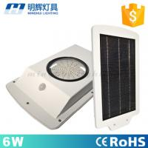 Best IP66 Waterproof Garden Lighting 6W Motion Sensor LED Solar Street Light wholesale