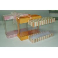 Buy cheap Transparent Plastic Gift Box with Paperboard Cover on Both Ends, Cuboid-shaped from wholesalers